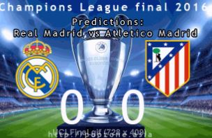 Predictions Champions League final 2016: Real Madrid vs. Atletico Madrid